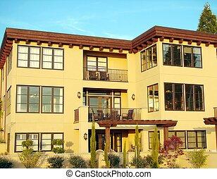 Condominium Complex - A modern looking condominium complex.