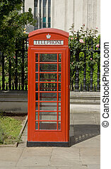 Red phone box - Traditional British red public telephone box