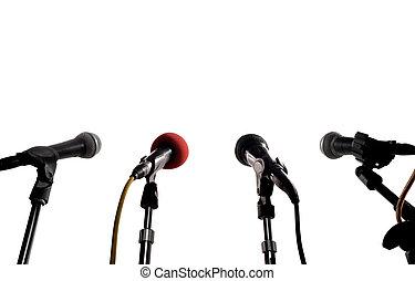 prensa, conferencia