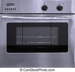 Modern Stove - -- with electronic display, control knobs and...