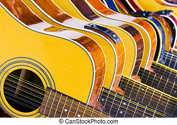Lot Of Music 10 Different Acoustic Guitars In A Row