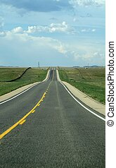 Endless road - Road to infinity in the middle west of the...