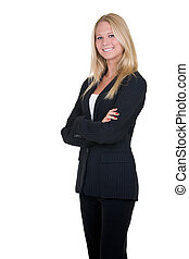Business woman - Attractive blonde woman in professional...