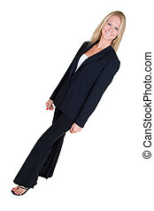 Business woman - Fulll body of an attractive blonde woman in...