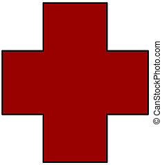 Red Cross symbol - clipart red cross