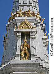 Grand Palace Bangkok - A golden statue in the grounds of the...