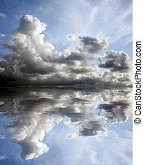 Brooding Sky - Brooding clouds with a blue sky and...