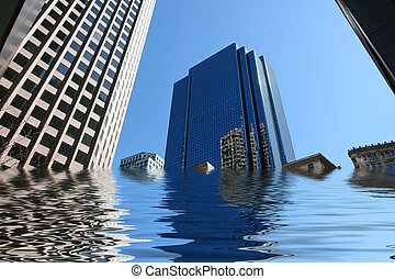 flooded skyscrapers - amusing image of boston skyscrapers...