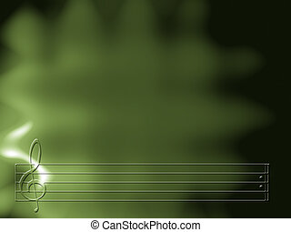 Music Background - Green musical background