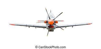 training plane Orlik isolated on white background with...