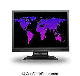 Lcd with world map