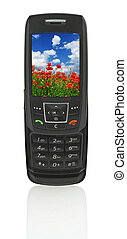 mobile phone with landscape