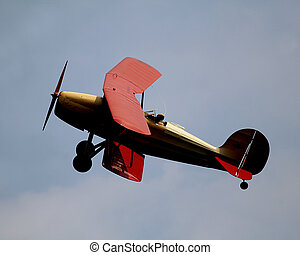 1931 Great lakes 2T-1R3 - antique airplane in flight