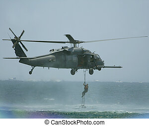 helicopter assualt - helicopter dropping off soldiers