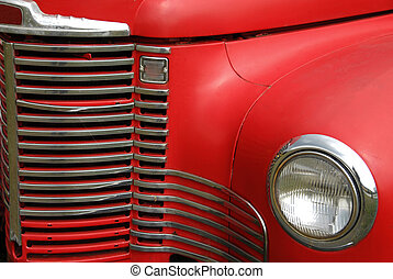 Old Farm Truck Grill - Front Grill on an old farm truck