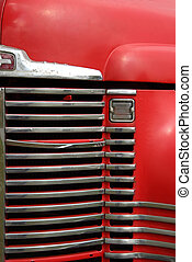 Old Farm Truck Grill - The front grill of an old farm truck