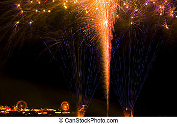 County Fair fireworks - Marin County Fair Fireworks