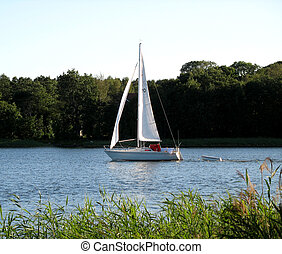 Sailing boat - sweeping through the summer