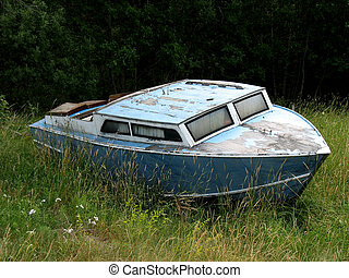 Stranded - A boat stranded, most likely forever