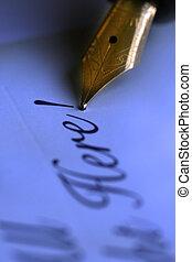 anticaglia, penna