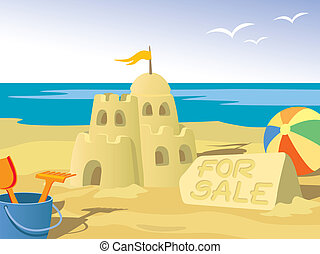 Sandcastle - Beautiful sandcastle for sale, at the beach.