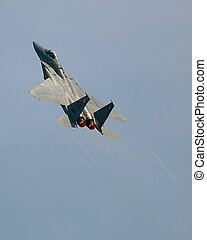 F15 Eagle in vertical climb