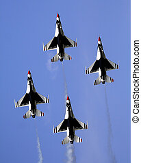 Thunderbirds - US Air Force Thunderbirds in formation at an...