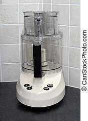 Food Processor - Food processor on a kitchen work surface