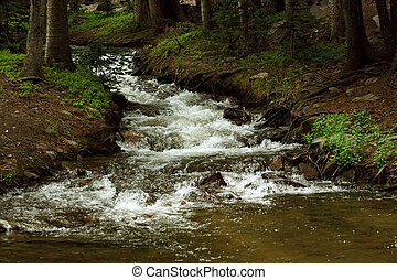 Sangre de Cristo stream - A mountain stream in the Sangre de...