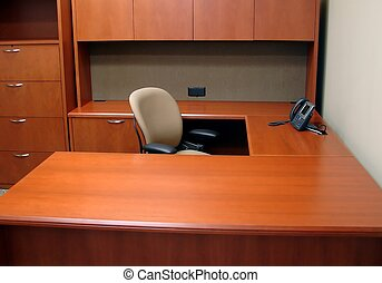 Clean out your desk - An empty, cleaned out desk.
