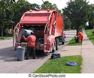 dustmen at work in cincinnatti