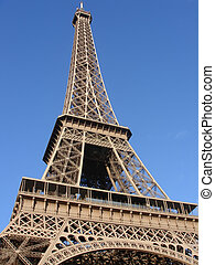 eifel tower on blue sky- architecture from france