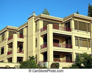 Condominium Complex - A modern condominium complex.