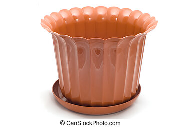 flowerpot on white - series object on white flowerpot