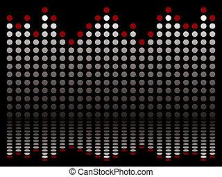 bar graphical blk - Graphical equaliser illustration ideal...