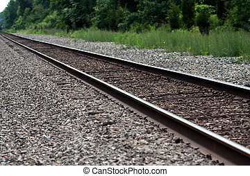 Railroad tracks - an image of Railroad tracks