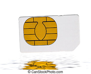Sim Card - Closeup shot oif a sim card isolated on a light...