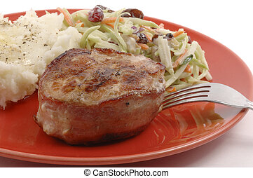 Turkey Filet - Grilled turkey filet wrapped in bacon with...