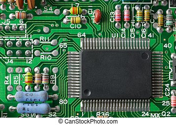 Electronics - Printed circuit board with some electronic...