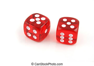 Pair of 5s - 2 Dice close up- Pair of 5s