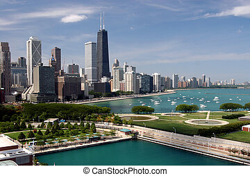 Chicago downtown - seen from Navy Pier