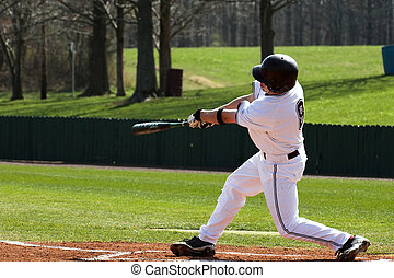 Baseball batter captured during game