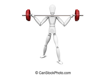 Weight lifter - 3D render of someone lifting weights