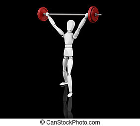 Weightlifter - 3D render of someone lifting weights