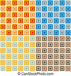 seventies squares multi