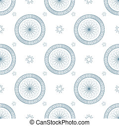 swirl blue repeat - Abstract seamless repeat design with...