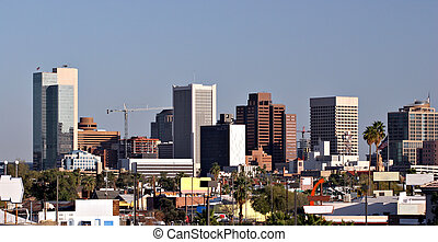 Phoenix Downtown Roofs, AZ - Skyscrapers and Single Family...
