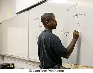 Advanced Math Student - A handsome african-american student...