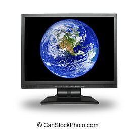 lcd with earth