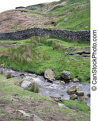 Stream and Stone Wall